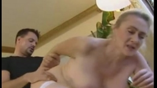 German golden-haired older anal and creampie