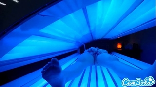 Teen latin chick receives caught rubbing her love button whilst using a tanning ottoman