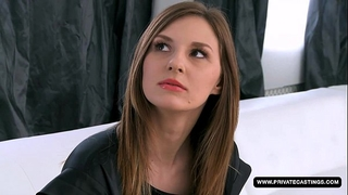 Newbie alice has an anal try-out and casting...