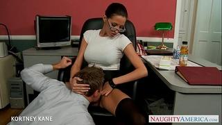 Office chick in glasses kortney kane fucking