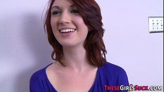 Redhead acquires pov facial