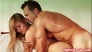 Creampied college playgirl screwed by professor