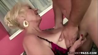 Granny copulates fresh yoga teacher