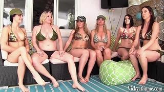 Vicky vette's 6 slutty wife lesbo fuckfest!