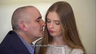 Tricky old teacher - hot hottie gives her old teacher a awesome oral