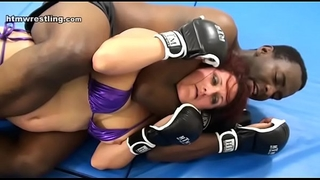 Interracial mma intergender fight