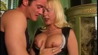 Amazing milf with large mounds sucked and slammed!