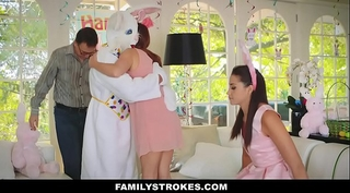 Familystrokes - cute legal age teenager screwed by easter bunny uncle