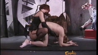 Stunning redhead looker enjoys whipping her highly sexually excited paramour sensually