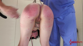 Young alt white bitch is fucked into ass, then has anal opening waxed shut