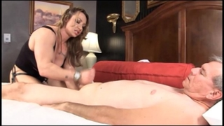 Muscle dominatrix brandimae teaches ribald old stud lesson #2