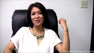Asian milf gloryhole interview blow job