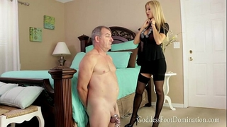 Husbands awaited release with femdom-goddess alexis