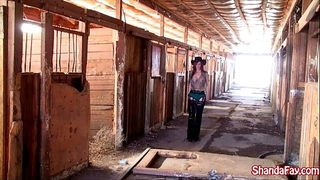 Canadian cowgirl shanda fay acquires screwed in the barn!