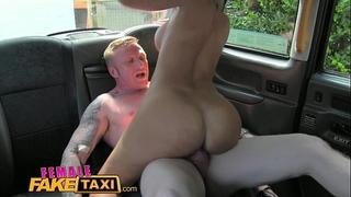 Female fake taxi driver takes a facial for a fare