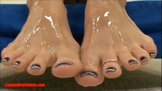 Legsandfeetvideos.com awesome smokin' footjobs and take up with the tongue cum of feet and drink