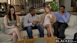Blacked 1st interracial trio for sydney cole