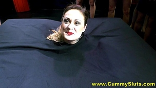 Hot nylons milf acquires overspread in ball cream