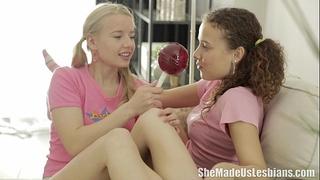 She made us lesbian babes - vasilisa loved the lollipops