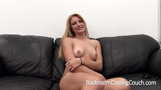 Tall smart golden-haired painful anal and creampie casting