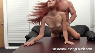 Hot redhead butt drilled and cummed in