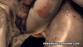 Monster studs bang 3d bitch