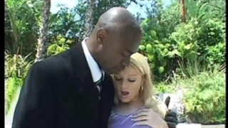 Blonde legal age teenager anal and double penetration with 2 large dark jocks