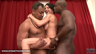 Interracial hardcore older sweetheart drilled by 2 dark knobs doublepenetrated anal