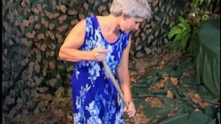 Skinny grey haired granny old cum-hole screwed