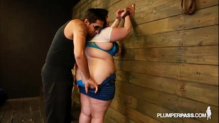 Bbw eliza allure can't live without zeppelins slapped and drilled