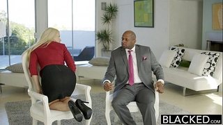 Blacked business blond anikka albrite arse drilled by a bbc