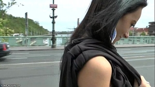 Slim legal age teenager martina shows her hot body in public