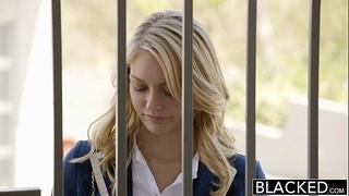 Blacked blond girlfriend alli rae can't live without dark weenie