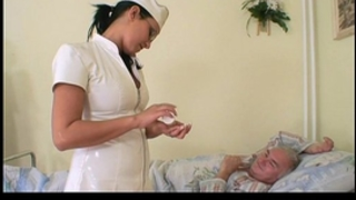 Grandpa honey fucking the nurse