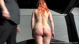 Spanking redhead non-professional diminutive in harsh dungeon whipping and raunchy domination of