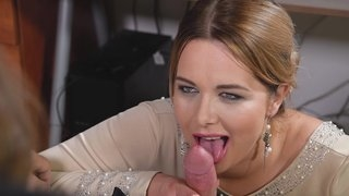 Cute MILF Nikky Dream does great blowjob until nice cumshot