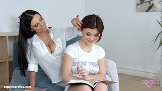 Kyra queen with veronica moore having lesbo sex presented by sapphix - lesson
