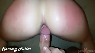 Amateur blonde chick gets sodomized by her horny hubby