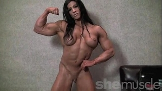 Angela salvagno bare female bodybuilder undress