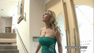 Mature doxy tanya tate copulates and takes the cum on her wobblers