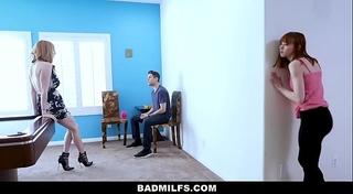 Badmilfs - concupiscent mommy copulates stepdaughter and her boyfriend