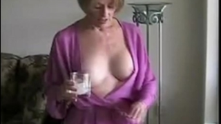 Mom lets son do her body