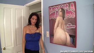 Busty stepmom rides her stepson's large pecker!