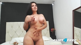 Beautiful sarah harper discloses her large pantoons and a-hole with striptease