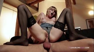 Lasublimexxx golden-haired wiska takes boyfriend's hard jock in her arse