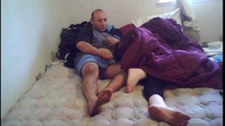Sleeping Married slut receives fucked and cum on feet