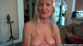 Grandma claire's old vagina needs some attention