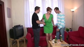 Threesome party with old sweetheart