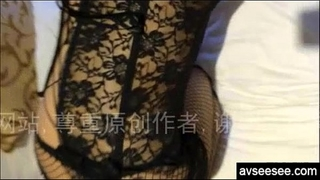Chinese dilettante wife with hawt underware taking homemade movie
