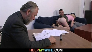 Desperate spouse pays a chap to fuck his horny white wife